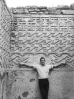 We spent two summers in Mexico in the mid-sixties. Here I am against a Zapotec wall in Mitla.